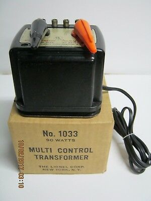 "USED LIONEL 027 or ""O"" GAUGE MODEL: ""1033""  90 WATT TRANSFORMER-OB-NICE!"