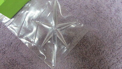 Large Modern Clear Star for Ceramic Christmas Trees