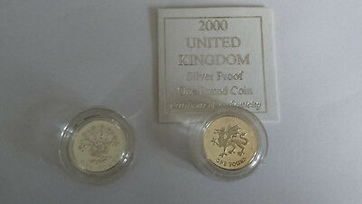 Two Royal Mint £1 silver proof coins with COA