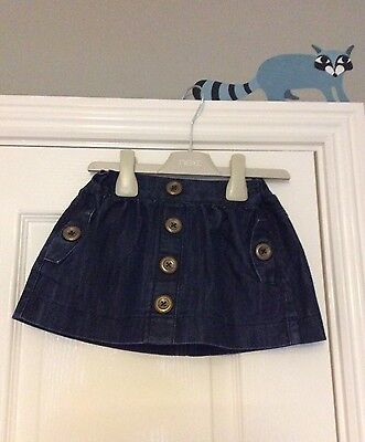 NEXT Girls Denim Skirt - 12 - 18 months. So Cute!