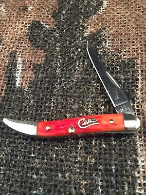 Vintage Case XX USA 610096 SS Tiny Toothpick Old Red knife