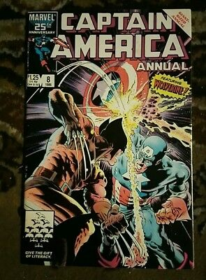 Captain America annual 8 Wolverine BEST COVER EVER!!! HOT high grade