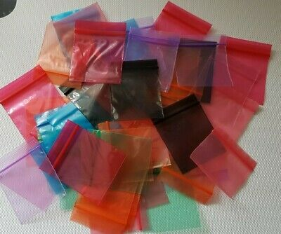 100 Small 50mm x 50mm Gripseal/Bags/Baggies/baggy patterned 15 Designs Or Mixed