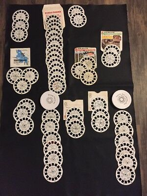 Vintage ViewMaster Lot Of 50 Reels And Etc