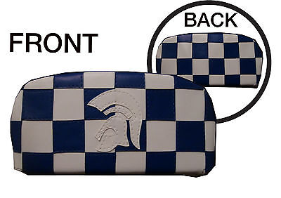 Blue/ White Trojan Check Back Rest Cover (Purse Style)