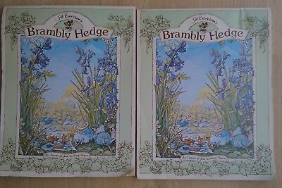 2 x Brambley Hedge Note Books 30 Leaves of June writing paper