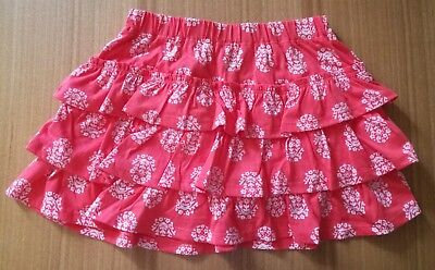 NEW Boden Girls age 6 - 7 years Shorts Floral Pink Cotton Kids Childrens Skirt