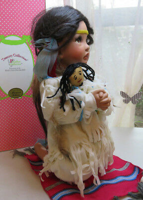 Treasury Collection Native American Doll girl praying Premiere Edition 16''