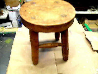 Vintage 4 Leg Wooden Milking Stool - Farmhouse Decor