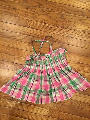 Janie and Jack Berry Smocked Plaid Top Size 10 Sail Away