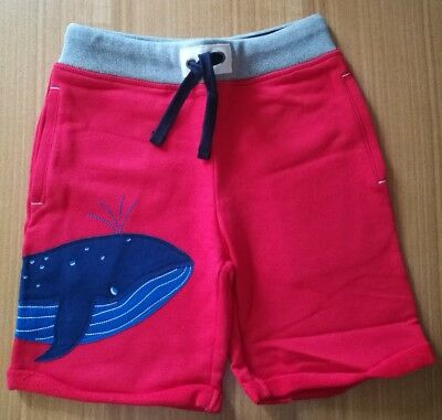 NEW Mini Boden Boys age 9 years Red Whale Shorts Cotton Tracksuit Kids Animal BN
