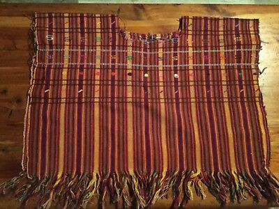 Authentic  traditional Vintage Mayan girls  Huipil  circa 1970's handwoven