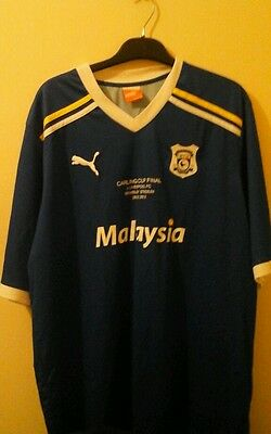 Cardiff City Rare Carling Cup Final Shirt vs Liverpool FC Wembley 2012