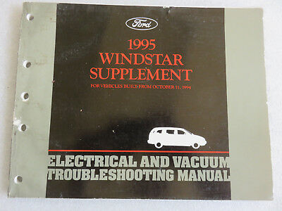 1995 ford windstar electrical wiring diagrams supplement service manual oem  shop