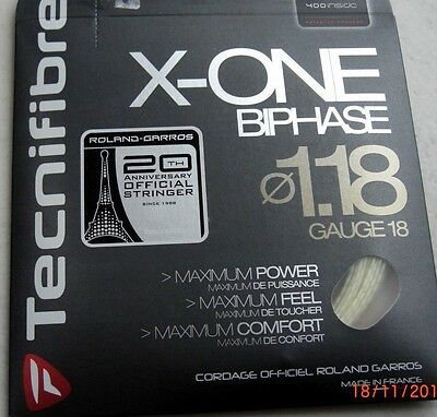 Tecnifibre X-ONE BIPHASE 1,18  12m   neu,  OVP