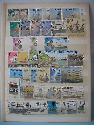 40 ship thematic postage stamps