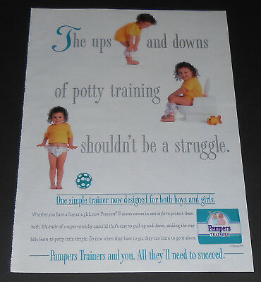 1995 vintage ad - PAMPERS ULTRA TRAINERS DIAPERS - 1-PAGE PRINT AD boys girls #2