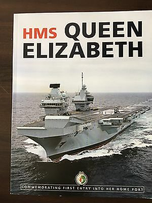 HMS Queen Elizabeth Aircraft Carrier Arrival Portsmouth VIP 128p Magazine Rare