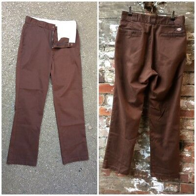 VINTAGE 31W 34L 1980s USA DICKIES WORK SKATER PANTS TROUSERS SKATEBOARD HOT ROD