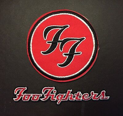 Foo Fighters Embroidered Iron On / Sew On Patch 70mm