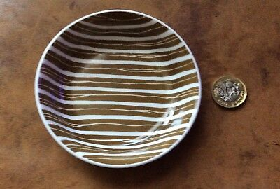 Vintage Susie Cooper Chocolate Brown Pottery Pin Dish. Look!