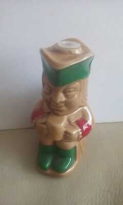 Mead Toby Jug Miniature Bottle With Stopper And Label On The Back