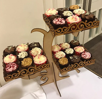 Y165 XL CAKE Cupcake LARGE Wedding Post Box MDF Table Display Stand Candy Cart