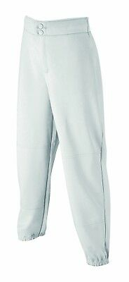 (Large, White) - Wilson Women's (Low-Rise) Heavyweight Poly Warp Knit Softball
