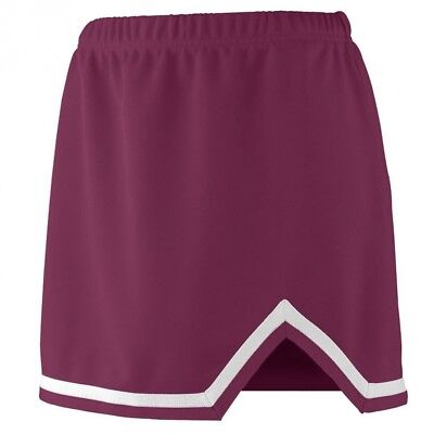 (Large, Maroon/White) - Augusta Sportswear 9125 Women's Energy Skirt