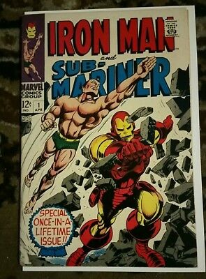 Iron Man & Sub-Mariner #1 (Apr 1968, Marvel) HOT SILVER AGE KEY