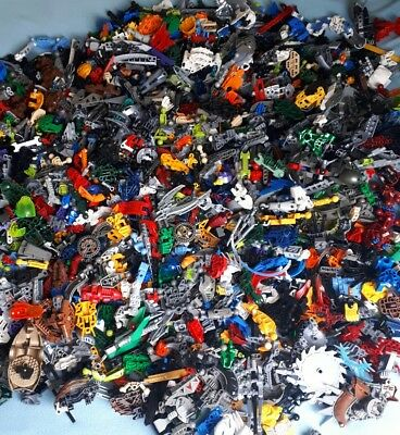LEGO 1KG Bionicle Mixed Spare Parts Pieces Bulk Job Lot Bundle Weapon Good Clean