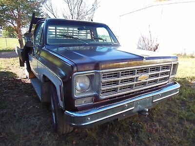 1977 Chevrolet C/K Pickup 2500 Cheyenne 1977 Chevrolet 3/4 ton Cheyenne Camper Special with flatbed C20