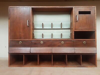 Vintage Industrial Post Office Pigeon Hole Cabinet