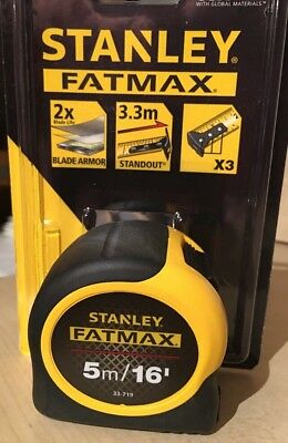 Stanley Fatmax 5m / 16ft Tape Measure, 0-33-719, Blade Armour - NEW STYLE