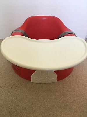 Red Bumbo Seat With Detachable Tray