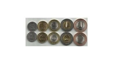 ANGOLA set of 5 coins UNC #S19