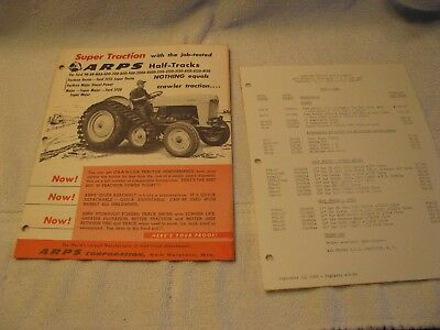 1965 ARPS Half-Tracks Price List and Brochure with Ford Tractors