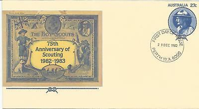 AUSTRALIA FDC 1982 PSE APN 059 75th ANNIVERSARY OF SCOUTING