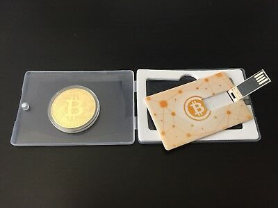 Bitcoin USB Credit Card and Gold Plated Token $10 free bitcoin