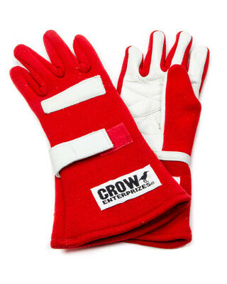 Crow Enterprises Medium Red Double Layer Driving Gloves P/N 11712