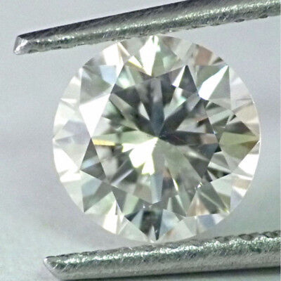 Sparkling 4.75 ct 11.45 mm VVS1 Off White Green tint Round Cut Loose Moissanite