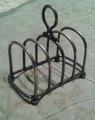Early 1900s toast rack with stamps and makers mark