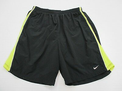NIKE #SH5558 Men's Size M Athletic DRI-FIT RUNNING LINED Black Shorts