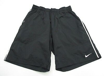 NIKE #SH4007 Men's Size M Athletic  DRI-FIT FITNESS RUNNING Lined Black Shorts