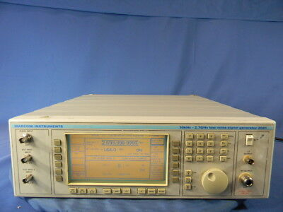 Marconi 2041 RF Generator With Option 002 30 Day Warranty