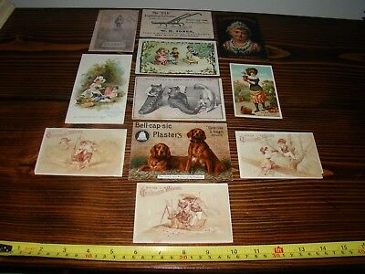 (11) 1800s Advertising Trade Cards ACME SOAP~PHARMACY~DIXONs ICE CREAM~RUMFORD..