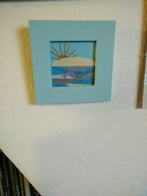 Framed seascape picture