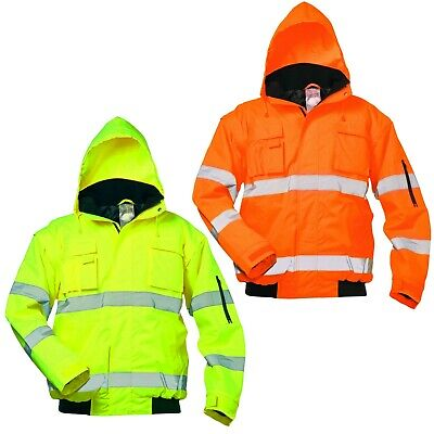 Work Jacket Protection Visibility Pilot Winter Warning 2 in1 Rain