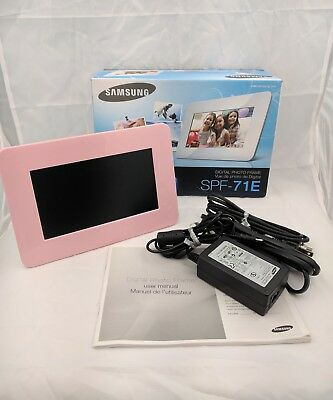 "Samsung SPF-71E Digital Photo Frame 7"" 120MB - Pink"