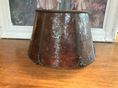 Beautiful Antique 1920's Arts & Crafts Mica Mission Lamp Shade Acorn Detail
